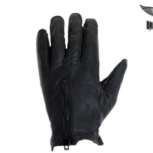 Driving Gloves With Lining & Zipper